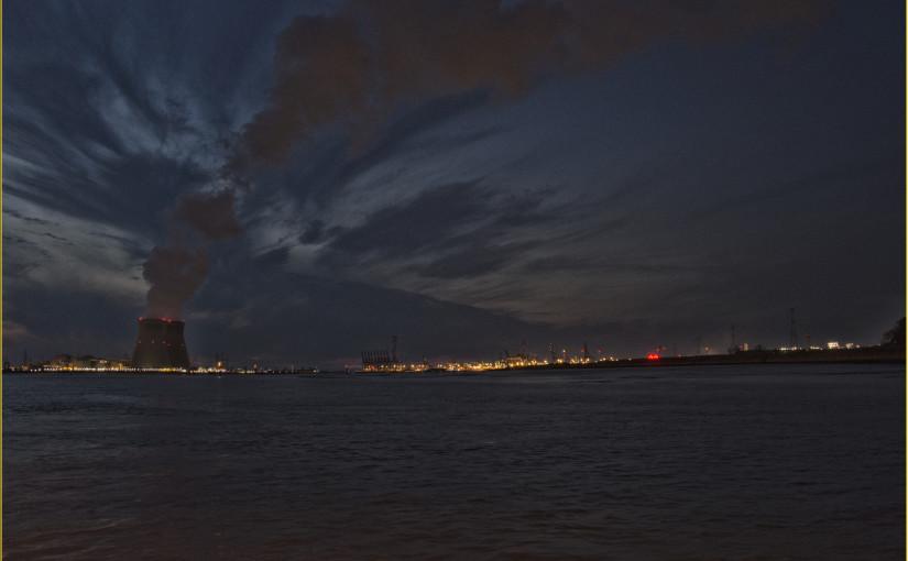 De haven van Antwerpen vanuit Lillo